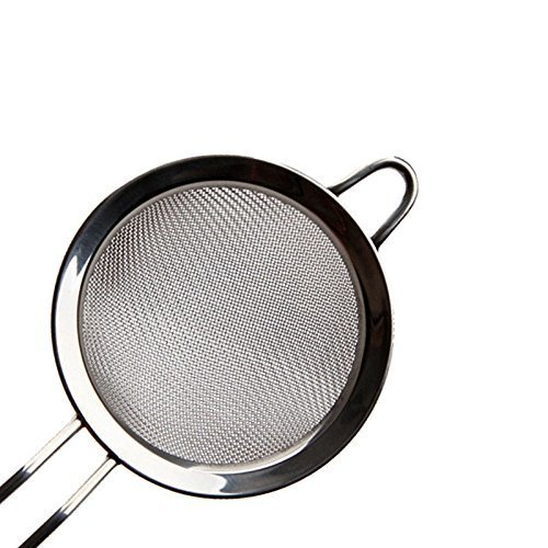 Nopea Stainless Steel Sieve Flour Sieve Fine Mesh Strainer Mesh Strainer For Flour Tea Coffee Rice Quinoa And Yogurt