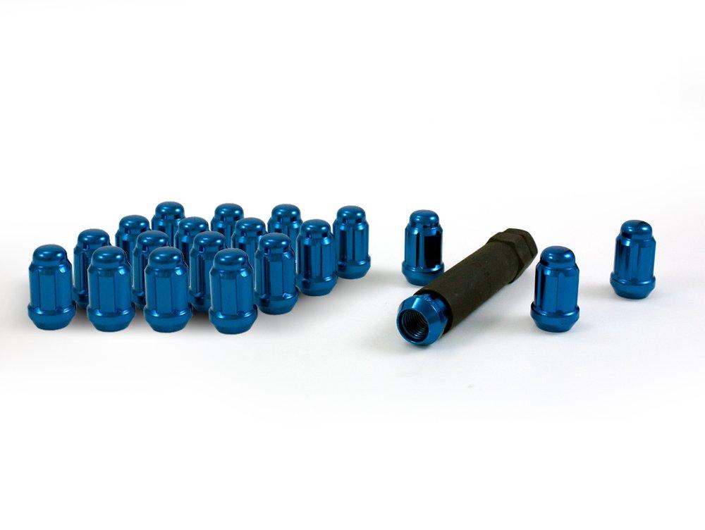 Pack of 16 12mm x 1.25 Thread Size Gorilla Automotive 21122BL Small Diameter Acorn Blue 4 Lug Kit