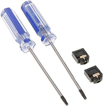 Baoblaze 2pcs Conector de Audio para Auriculares Jack de 3,5 mm + Destornillador para Xbox One S Controlador: Amazon.es: Electrónica