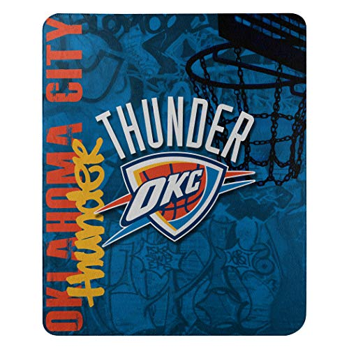 The Northwest Company NBA Oklahoma City Thunder Hard Knocks Printed Fleece Throw, 50-inch by 60-inch, Blue
