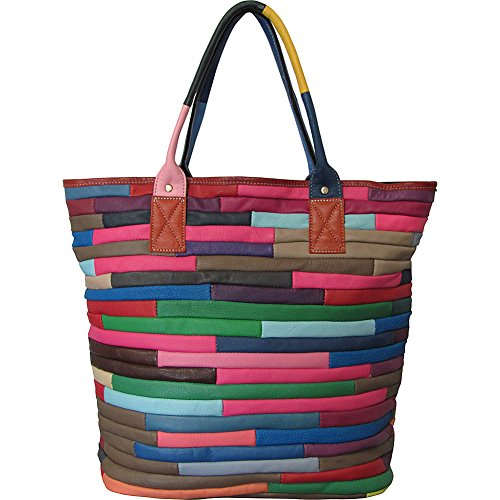 AmeriLeather Rozaly Leather Shoulder Bag (Rainbow)