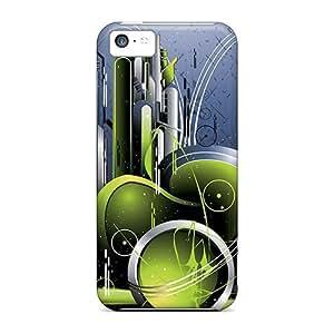 Iphone 5c Case Cover Skin : Premium High Quality Green Case