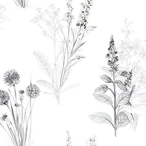 Manhattan comfort NWAB42443 Woodbury Series Vinyl Floral Toile Design Large Wallpaper Roll, 20.5