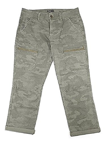 Supplies by Unionbay Womens Cargo Crop Pant (6, Greek Olive Camo)