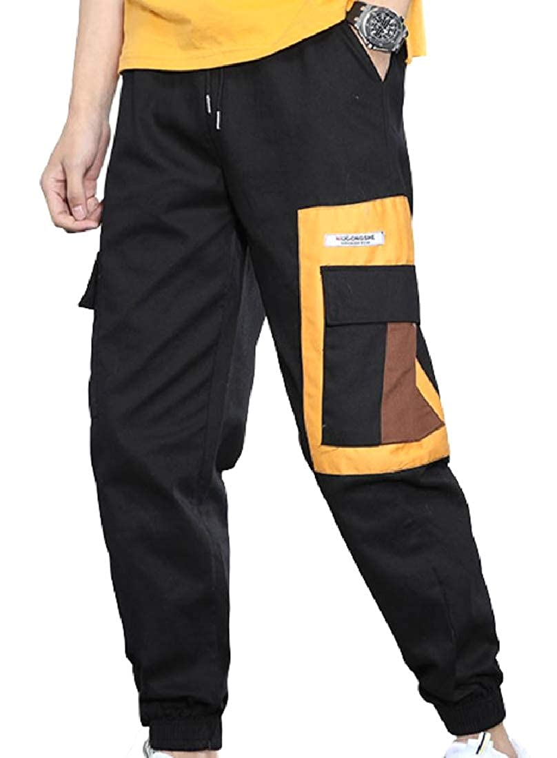 Unastar Men Slim-Tapered Relaxed Cotton Multi Pockets Cargo Work Pants