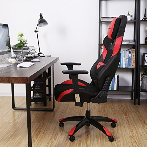 51AjDYOJj4L - SONGMICS-Gaming-Chair-Racing-Sport-Chair-High-back-Office-Chair-with-the-Headrest-and-Lumbar-Support-Red-URCG23R