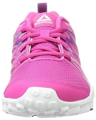 Reebok Mädchen Realflex Train 4.0 Turnschuhe Pink (Charged Pink/Aubergine/White)