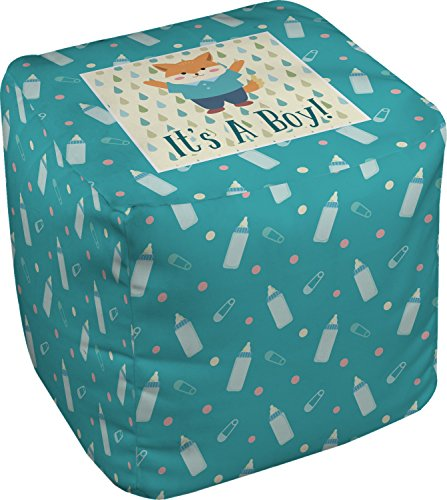 Baby Shower Cube Pouf Ottoman - 13'' (Personalized) by RNK Shops