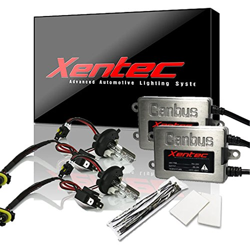 (Xentec Xenon bulb H4 (HB2) 6000K Hi/Lo bundle with 45W Error Free Slim CANBUS Ballast (ultra white, high beam halogen))