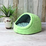 WuKong 17.7''x16.1''x11'' Candy Pet Bed Kennel Dog Nest Cat Bed (Green)