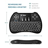 Mini 2.4Ghz Backlight Wireless Keyboard Mouse Touchpad Rechargable Li ion Battery For PC / Pad / Xbox 360 / PS3 / Google Android TV Box / HTPC / IPTV