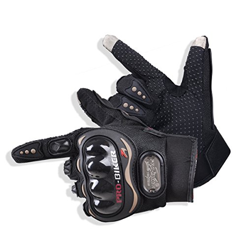 CHCYCLE motorcycle gloves touch screen summer motorbike powersports protective racing gloves (medium)