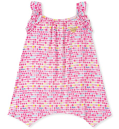 Juicy Couture Baby Girls Summer Dress, Pink/Yellow Print 12M (Juicy Couture Print Dress)