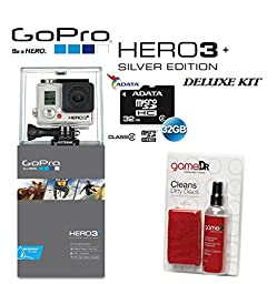 Gopro Hero3+ Silver Edition Camera -Chdhn-302-kit- Starter Kit Includes, 32gb Micro Sd, and Cleaning Kit