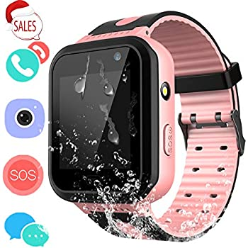 Kids Waterproof Smartwatch with GPS Tracker - Boys & Girls IP67 Waterproof Smart Watch Phone with Camera Games Sports Watches Back to School Supplies Grade ...