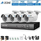 Cheap A-ZONE AHD Security Camera Systems 8 Channel DVR Recorder 4 x HD 960P Outdoor Security Cameras Night Vision