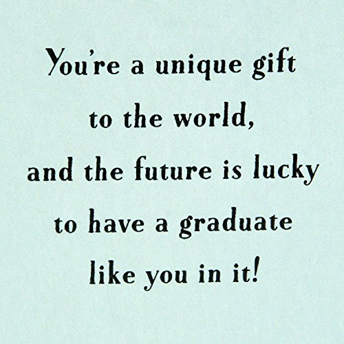 Hallmark Graduation Greeting Card (You're a Unique Gift to the World) Photo #7