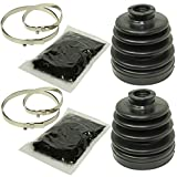 CALTRIC REAR AXLE INNER and OUTER CV BOOT KITS Fits POLARIS SPORTSMAN 500 4X4 HO 1999-2005