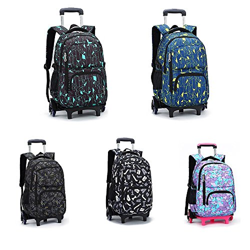 Amazon.com: TiTa-Dong Rolling Laptop Backpack Luggage Wheeled Backpack Trolley School Bags with Six Wheels for Boys Girls Kids Teenagers Students Schooling ...
