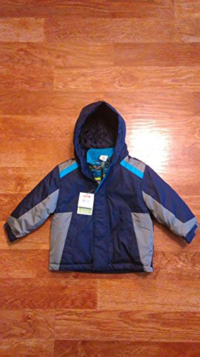 Healthtex Baby Infant Boy 3 in 1 Ski Snowboard Jacket with Removable Inner Layer, Blue Sapphire Grey (18 M)