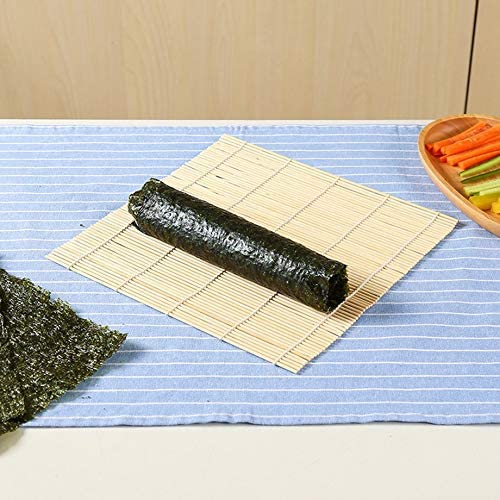 graceUget Sushi Rolling Roller Bamboo DIY Sushi Mat Onigiri Rice Roller Hand Maker Sushi Tools Kitchen Japanese Sushi Maker Tool