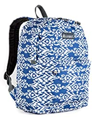 Everest Classic Pattern Backpack, Navy/White Ikat, One Size