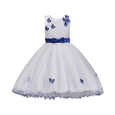 Amazon.com: Little Girls Pageant Dress, Hot Sale Bow Princess ...