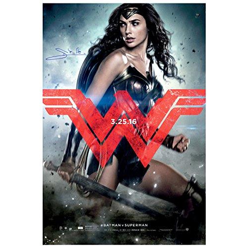 Gal Gadot Autographed Original Batman vs Superman Wonder Woman 27?40 D/S Poster