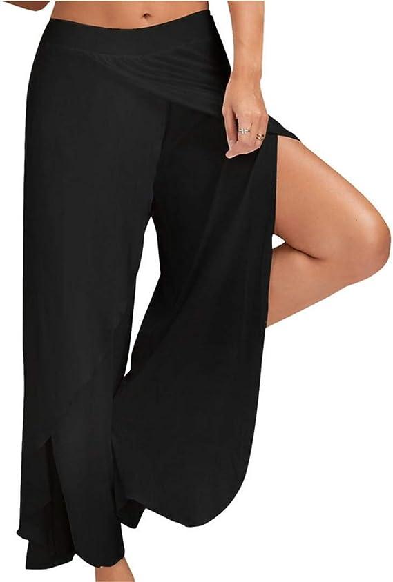 Amazon.com: Melanda Women High Slit Flowy Layered Loose ...