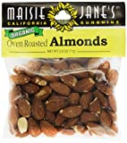 Maisie Jane's Organic Oven Roasted Almonds, 2.5-Ounce Packages (Pack of 4)