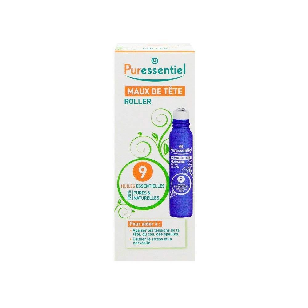 Puressentiel Headache Roller with 9 Essential Oils