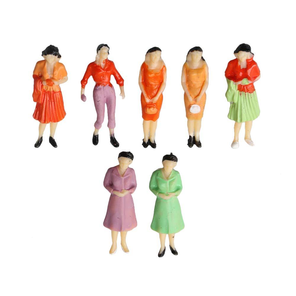 BQLZR 1:50 Scale O Gauge Hand Painted Layout Model Train People Figure