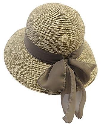 8ee0de53 New Retro Wide Brim Raffia Chiffon Summer Sun Hat 1920's 1930's 1940's Style