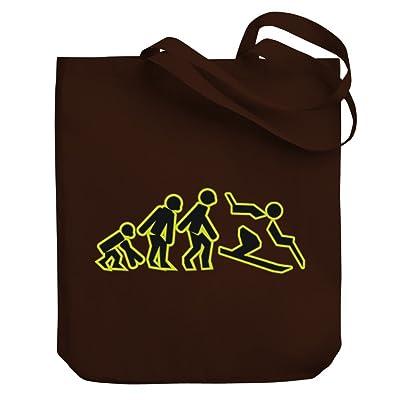 cheap Teeburon Evolution Skiing Canvas Tote Bag
