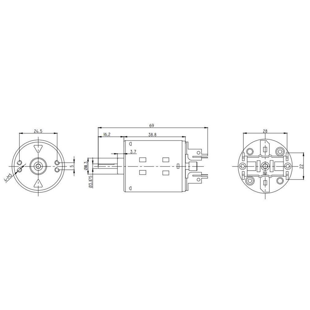 KinshopS 540 80T motor cepillado para coche Axial SCX10 RC4WD D90 1//10 RC de escalada todoterreno