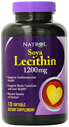 Natrol Soya Lecithin Mineral Supplement, 1,200 mg, 120 Count