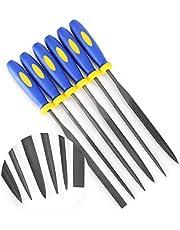 Needle File Set (Highest Quality 6 Piece Set) Hardened Alloy Strength Steel - Mini Needle File Set Includes Flat, Flat Warding, Square, Triangular, Round, and Half-Round File.