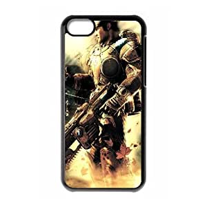 Gears Of War Soldier Gun Nubes ligeras Marcus Fenix ??21,122 iPhone 5C caja del teléfono celular funda Negro caja del teléfono celular Funda Cubierta EEECBCAAJ72322