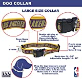 NBA Los Angeles Lakers Dog Collar, Size Large. Best Pet Collar for All Sports Fans