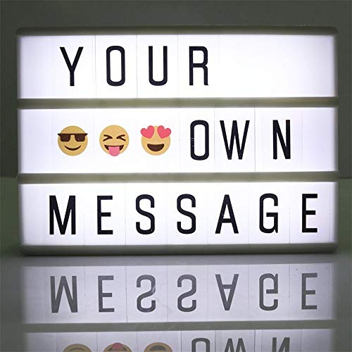Cinema Lightbox Mini A6 Size 5.9 x 4.1 Inch LED Cinematic Light Box with 90 Letters for Wedding, Home, Photoshoots, Birthday Party