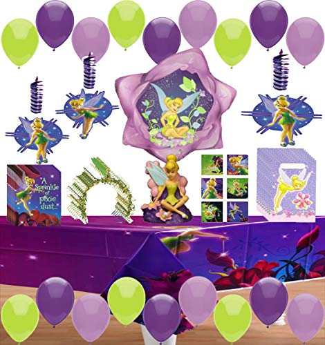 Tinkerbell Party Supplies Fairies Girls Birthday Pack Bundle of Balloons Table Cover, Favor Bags, Invitations and More!]()