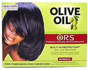 Organic Root Stimulator Olive Oil Relaxer (Normal) Free Sheen Spray Included