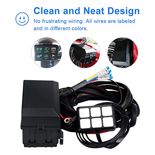 chic waterwich 6 gang switch panel electronic relay system circuit control  box waterproof fuse relay box