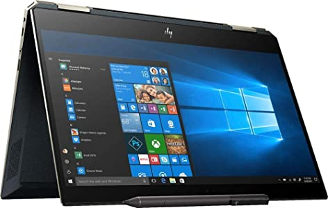 "2019 HP Spectre x360 13t 2-in-1 Laptop, 13.3"" UHD 4K Touch Display, Intel Core i7-8565U, 16GB Ram, 512GB PCIe Solid State Drive, Windows 10, Poseidon Blue (Renewed)"