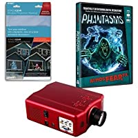 Virtual Reality Halloween Projector Kit with Phantasms AtmosFEARFx DVD and Screen