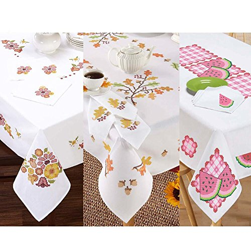 Stamped Cross Stitch Tablecloth - 8