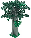 LEGO Custom Creative Tree Kit 4 (Stone Grey with 16 Green and Dark Green Leaves)