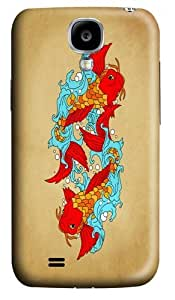 gold fishes PC Case Cover for Samsung Galaxy S4 and Samsung Galaxy I9500 3D
