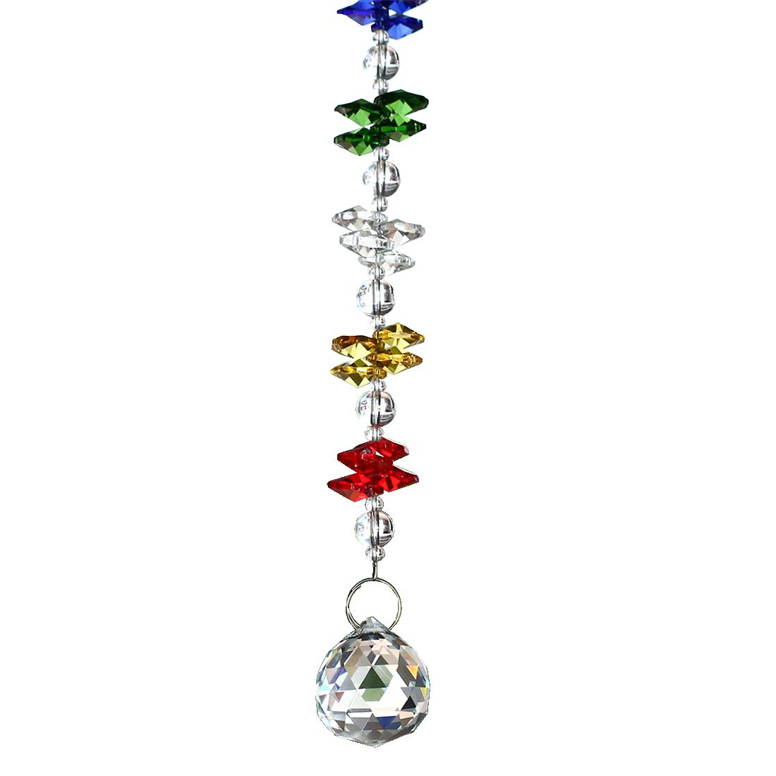 H& D Chakra Suncatcher Chandelier Crystals Ball Prisms Fengshui Rainbow Pendant Maker Car Charm LTD ADE1611300