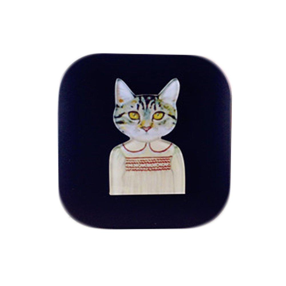 Lacuni Style Eyekan Contact Lens Case Lenses Holder Box Travel Kit Case Black